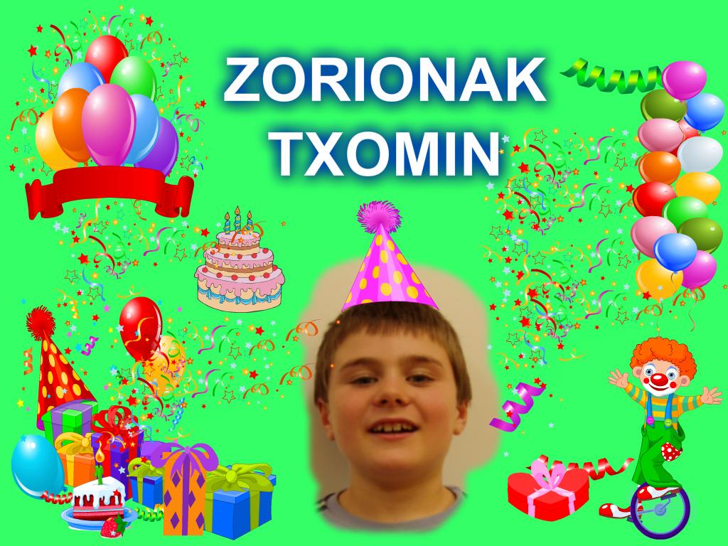 Zorionak Txomin