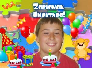 Zorionak Unaitxo!